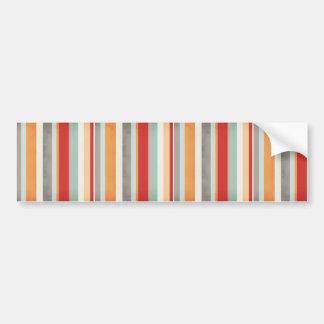 stripes109 COLORFUL VERTICAL STRIPES PATTERN BACKG Bumper Sticker
