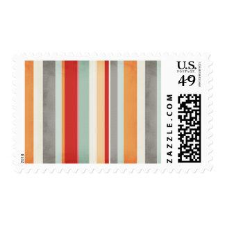 stripes109 COLORFUL VERTICAL STRIPES PATTERN BACKG Postage
