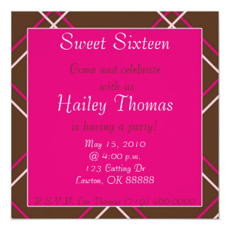 stripes2 copy, Sweet Sixteen, Come and celebrat... Card
