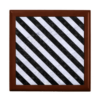 STRIPES3 BLACK MARBLE & WHITE MARBLE (R) JEWELRY BOX