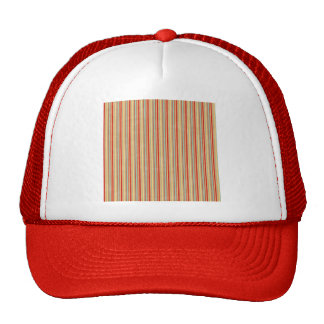 stripes50 STRIPES LIGHT BROWN TAN RED YELLOWISH OR Mesh Hats