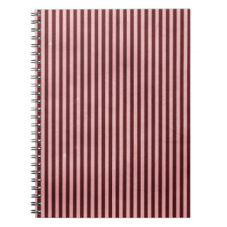 stripes54-pink STRIPES CANDYCANE PINK RED FUN YUMM Spiral Notebook