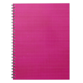 STRIPES61 HOT PINK STRIPES GIRLY FUN GRAPHICS TEXT SPIRAL NOTEBOOK