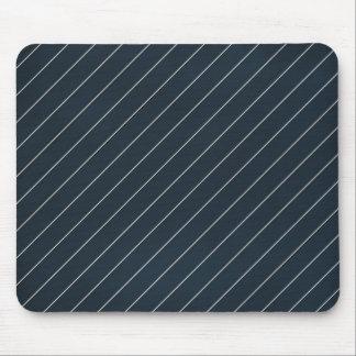 stripes65 NAVY SILVER WHITE STRIPES BACKGROUND PAT Mousepad