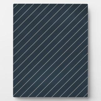 stripes65 NAVY SILVER WHITE STRIPES BACKGROUND PAT Photo Plaques