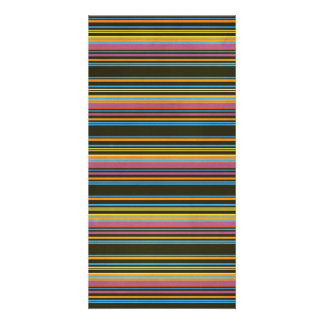 STRIPES66 COLORFUL STRIPES ORANGES CORAL YELLOW PU CARD