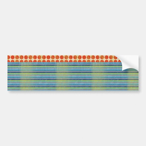 stripes66 SCRAPBOOKING COLORFUL STRIPES POLKA DOTS Bumper Stickers