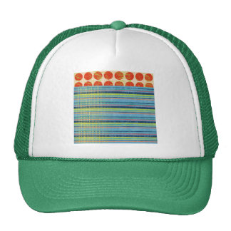 stripes66 SCRAPBOOKING COLORFUL STRIPES POLKA DOTS Hat