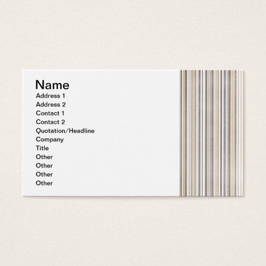 stripes67 LIGHT BLUE PINK WHITE STRIPES NEUTRAL CO Business Card