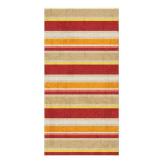 stripes69 RED ORANGE NEUTRAL COLOR STRIPES PATTERN Card
