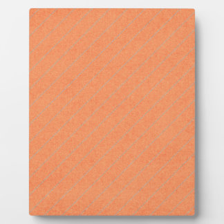 stripes75-orangegray ORANGE PEACH GREY STRIPES PAT Display Plaque