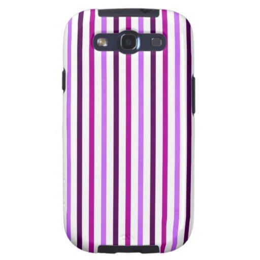 stripes78-purple PURPLE WHITE MAUVE STRIPES PATTER Galaxy SIII Case