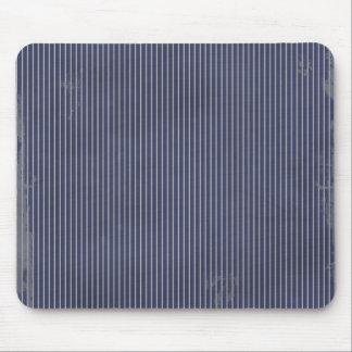 stripes86 DARK NAVY BLUE WHITE GRUNGE STRIPES PATT Mouse Pads