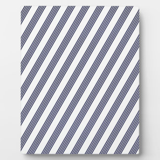 STRIPES96 NAVY BLUE OFF-WHITE STRIPES DIAGONAL PAT PLAQUES