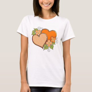 Stripes-002 Orange T-Shirt