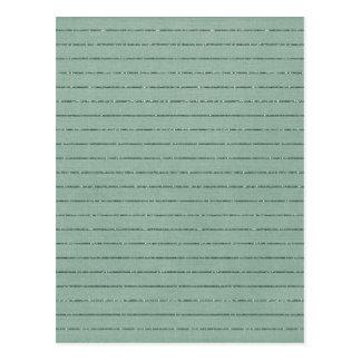 STRIPES 110 GLITTERY MINT GREEN BACKGROUND WALLPAP POSTCARD
