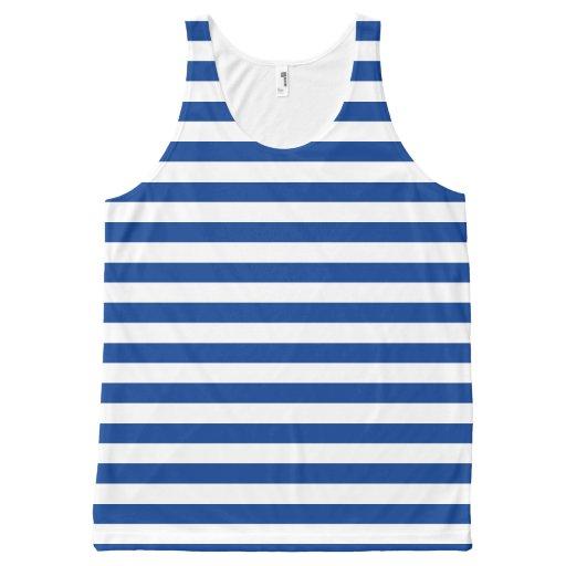 STRIPES adjustable BLUE & color X All-Over Print Tank Top Tank Tops, Tanktops Shirts