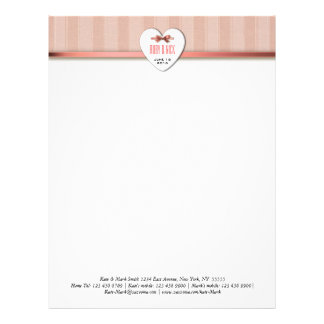 Stripes and Bow Letterhead