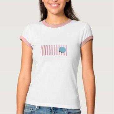 Beach Themed Stripes and Circle T-Shirt
