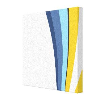 Stripes and Circles Canvas Print