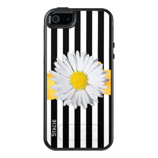 Stripes and Daisy Otterbox iPhone 5S Case