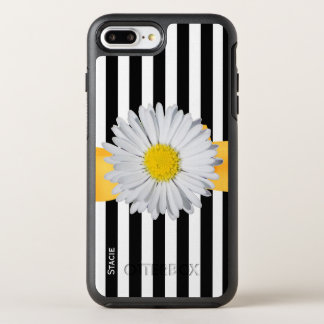 Stripes and Daisy OtterBox Symmetry iPhone 7 Plus Case