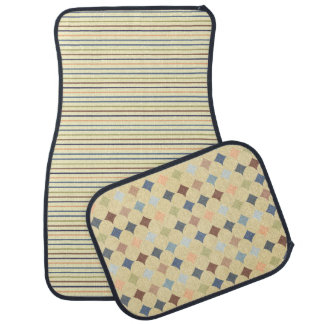 Stripes and Diamond Pattern Car Floor Mat