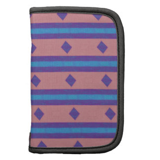 stripes and diamonds pattern folio planner