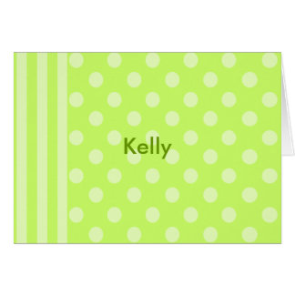 Stripes and dots and.. card