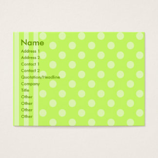 Stripes and Dots Business Card