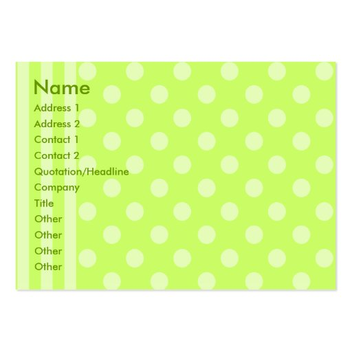 Stripes and Dots Business Card Templates