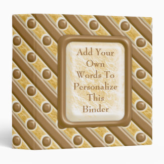 Stripes and Dots - Chocolate Marshmallow Binder