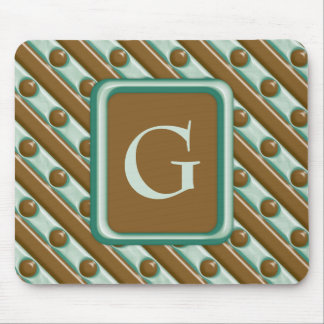 Stripes and Dots - Chocolate Mint Mouse Pad