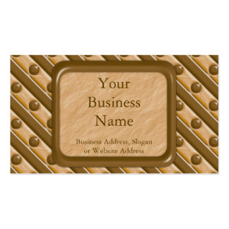 Stripes and Dots - Chocolate Peanut Butter Double-Sided Standard Business Cards (Pack Of 100)