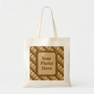 Stripes and Dots - Chocolate Peanut Butter Tote Bag