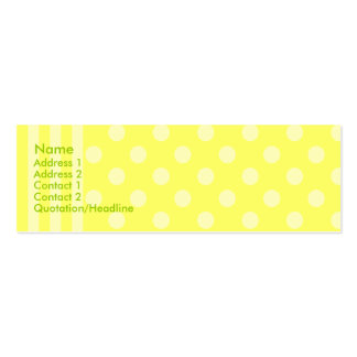 Stripes and Dots Double-Sided Mini Business Cards (Pack Of 20)