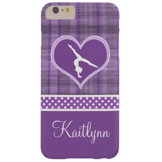 Stripes and Dots Gymnastics w/ Monogram Barely There iPhone 6 Plus Case