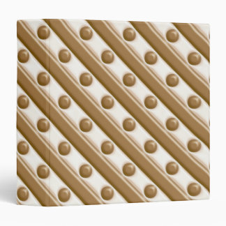 Stripes and Dots - Milk and White Chocolate 3 Ring Binder