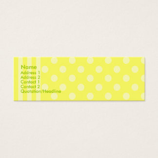 Stripes and Dots Mini Business Card