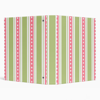 Stripes And Dots School Notebook 3 Ring Binder