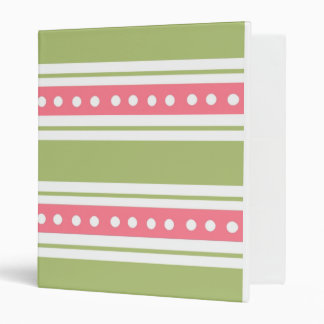 Stripes And Dots School Notebook Binder