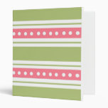 Stripes And Dots School Notebook Binders