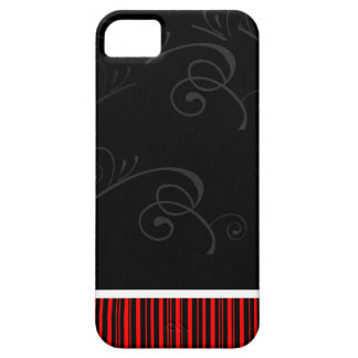 Stripes and Floral Design iPhone 5 Case