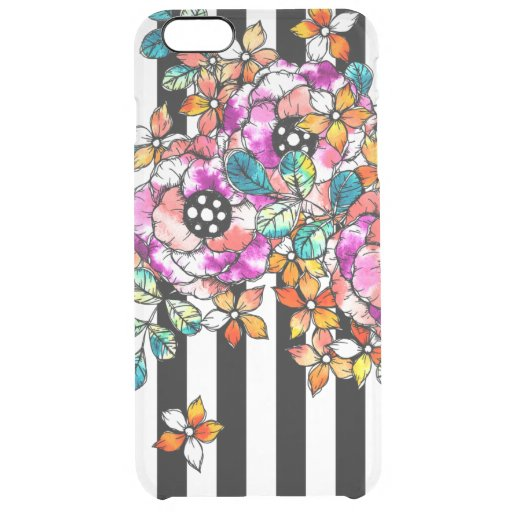 Stripes and Flower Patterns iPhone Cases