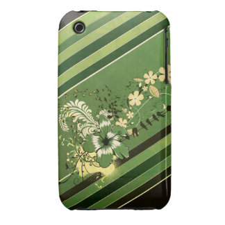 Stripes and Flowers Case-Mate iPhone 3 Case