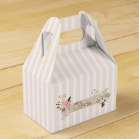 Stripes and flowers favor box