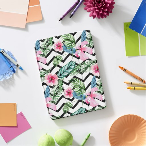Stripes and Flowers Smart iPad Case