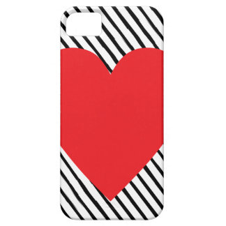 Stripes and Heart iPhone SE/5/5s Case