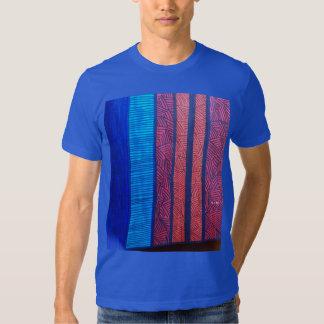 Stripes and Lines Men's Royal Blue T-Shirt