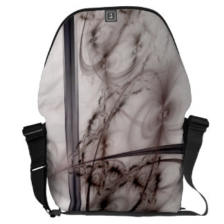Stripes and loops fractal design courier bags